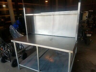 "Commercial Stainless Pizza Cut-N-Pack Work Table 50"" x 60"""
