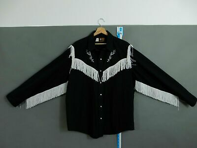 KENNY ROGERS SHIRT WITH FRINGE / MADE IN CANADA /  (PIT to PIT 26.5 inch)
