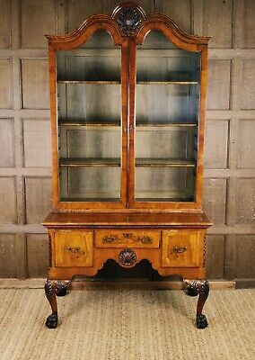 A Super Quality 19th century Irish Walnut Bookcase On Stand