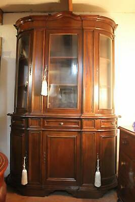 A Tall Large French Bow Fronted Display Cabinet Sideboard Dresser