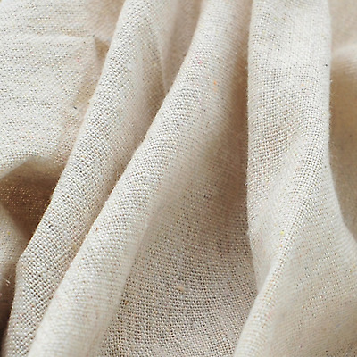 Light Beige Linen Needlework Embroidery Fabric Cross Stitching Plain Solid Color