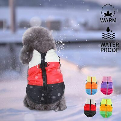 Pet Dog Warm Padded Coat Jacket Costume Puppy Chihuahua Winter Clothes Vest 2019