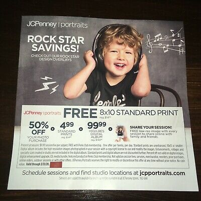 JCPenney Portraits Coupon: 8x10 Print & 50% off Photos + More (Expires 3/31/20)