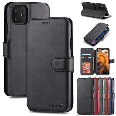 For iPhone 11 Pro Max Case 11 XS XR 8 Plus 7 Magnetic Leather Stand Wallet Cover