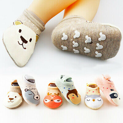 Baby Kids Non-slip Cotton Floor Socks Toddler Shoes Slipper Sock Home Soft Cute