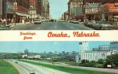 Omaha, Nebraska Interstate 80 Highway Street Scene with Cars Postcard A3