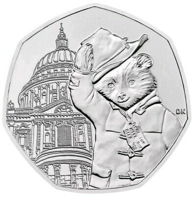 2019 Royal Mint Paddington Bear at St Paul's Cathedral Fifty Pence 50p Coin UK
