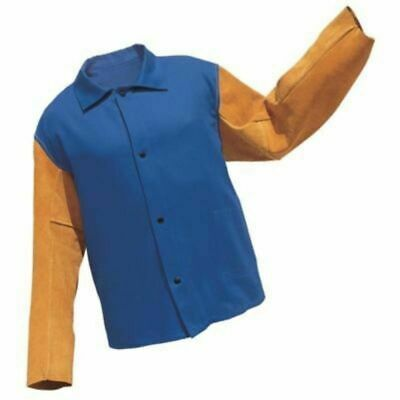 "Radnor Welding Royal Blue SMALL 30"" Flame Retardant Jacket"