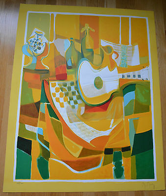 """Marcel Mouly """"GRANDE GUITARE BLANCHE """" S/N Embossed Lithograph with a COA!"""
