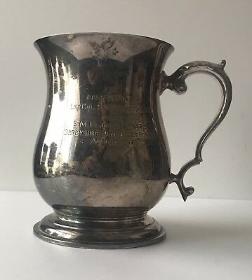 Antique Pewter Tankard Derbyshire Army Cadet Force 1962 - Engraved -  (21)