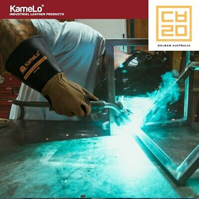 Premium TIG Long Leather Welding gloves, 819 - KameLo Korea