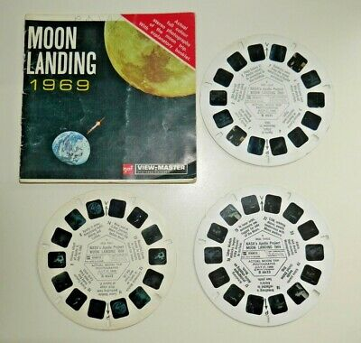 Nasa Apollo Moon Landing 1969 Viewmaster Reels Space Set B663 Rare   F331