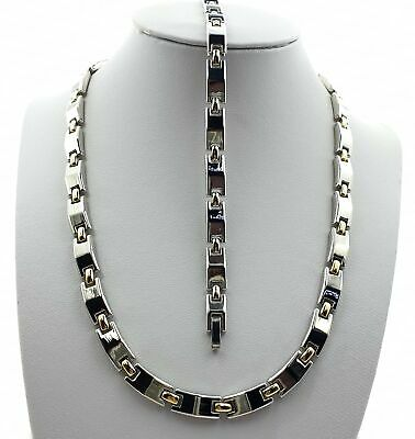 Magnetic Therapy Necklace and Bracelet Set, Beautiful and Healthy.