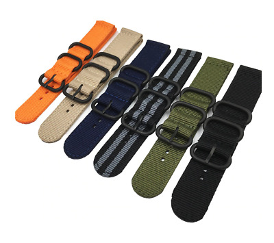 2piece Nylon Watch Strap Army Military Diver Band For Tissot Citizen Timex Oris