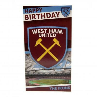 West Ham United F.C. Birthday Card Sport Football Birthday Gift Idea