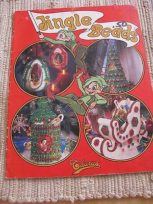 VINTAGE JINGLE BEADS Taurus craft pattern booklet- Beaded Christmas decorations