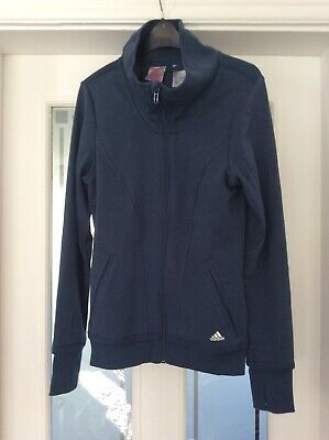 Girls Blue Adidas Tracksuit Top Age 13/14yrs Good Condition