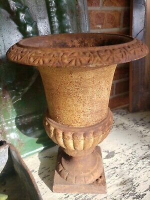 FAB~ French Chic! Vintage Antique Cast Iron Garden Table Mantle Planter Urn