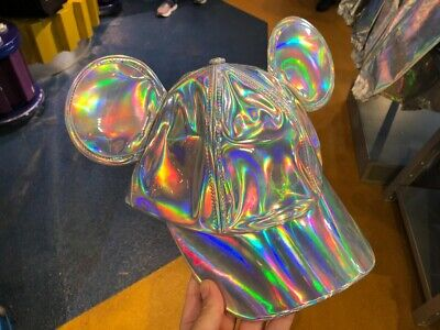 Disney Parks Epcot Forever 2019 Mickey Mouse Holographic Ears Baseball Cap New