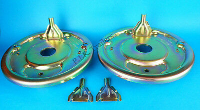 "Pair of 250x40 Back Plate 49mm Centre for 10"" Knott Brake Trailer Ifor Williams"