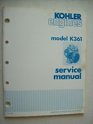 Original Kohler ~ Engine Model K361 ~ Service Manual TP-1288