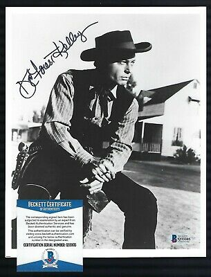 DeForest Kelley signed 8x10 photograph BAS Authenticated Western Pose