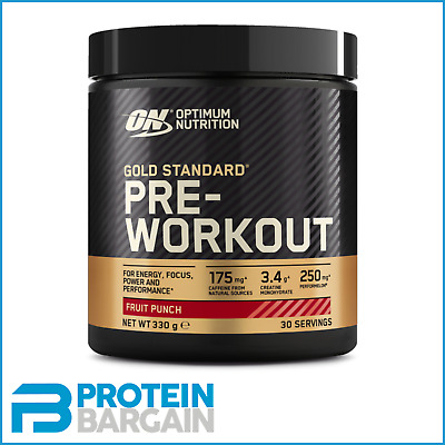 Optimum Nutrition Gold Standard Pre Workout 330g 30 Servings On All Flavours
