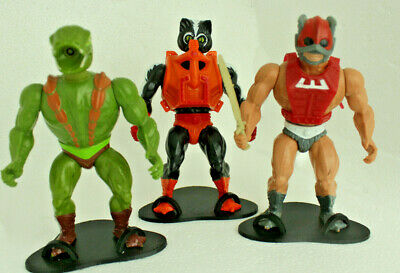 Masters of the universe vintage motu figure stands display toy he-man mantenna