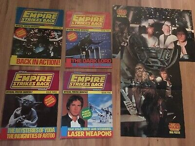 Empire Strikes Back, Official Poster Monthly, Issues 1,2,3,5 only + 2 Small Ones