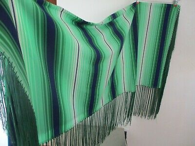 Pow Wow Native American Shawl dance Traditional green Vintage Women's S/M