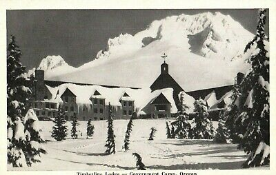 Timberline Lodge - Government Camp, Oregon, Vintage RPPC real photo Postcard A4