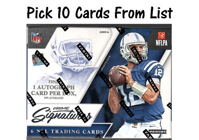2016 Prime Signatures Football Singles Pick 10 Cards From List Complete Your Set