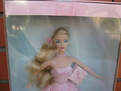 Barbie 2003  Birthday Wishes Barbie Collectibles Limited Edition Pink Gown Rare