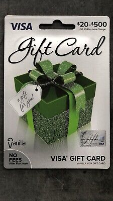 Vanilla Gift Card $100 Ready For Use No Fees After Purchase