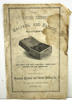 Rare Catalog For Early Quack Electronic Stimulation McIntosh Galvanic Battery Co