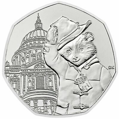 Uk Paddington Bear 2019 At St Paul's Cathedral Uncirculated Coin 50P