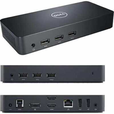 Dell D3100 Ultra HD 4K USB 3.0 Docking Station, 65W PSU - 12 Mth Wty (Open Box)