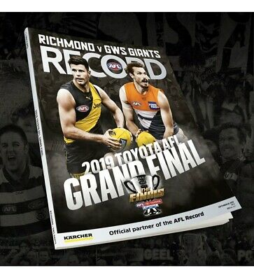 2019 AFL Grand Final Footy Football Record Guide GWS Giants vs Richmond Tigers