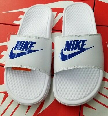 Nike Men's Benassi Jdi Slide White/Varsity Royal 343880 102