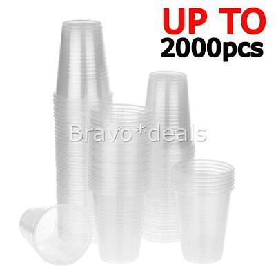 Disposable Plastic Cups Clear Reusable Drinking Water Cup Party 200ml Bulk J