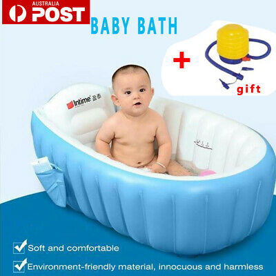 Inflatable Safety Newborn Baby Bath Tub Shower Floating Toy Travel Kids Swimming