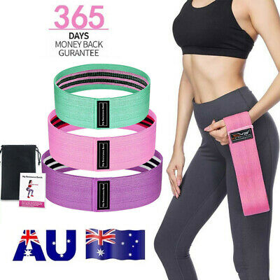 3x Resistance Bands Hip Circle Booty Loop Glute Leg Squat Gym Exercise Fitness U