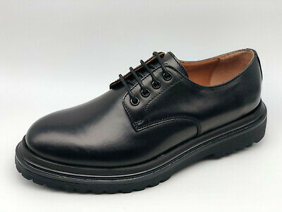 Scarpe Stringate Frau 7221 pelle nera Made in Italy tipo Dr. Martens