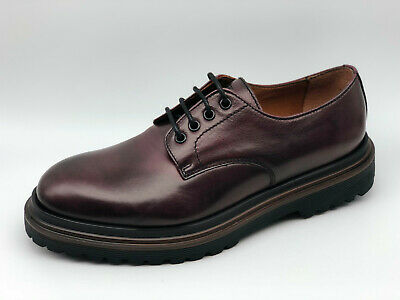 Scarpe Stringate Frau 7221 pelle bordeaux Made in Italy tipo Dr. Martens