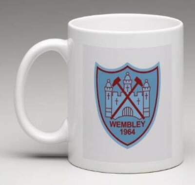 WEST HAM FC Retro WHU Club Badge Personalised HAMMERS Football Mug Gift  MWHU3
