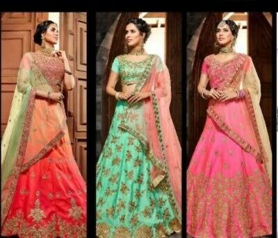 Lehenga Choli Indian Wedding Wear Designer Lengha Chunri, Nepali Lehenga,