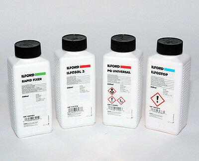 Ilford Black & White Film and Paper Processing Chemical Kit