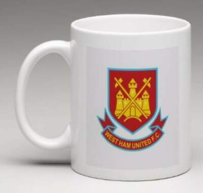 WEST HAM FC Retro WHU Club Badge Personalised HAMMERS Football Mug Gift  MWHU5