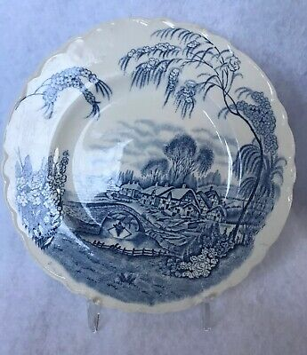 Antique AJ Wilkinson Royal Staffordshire Pottery Burslem England Homestead Plate
