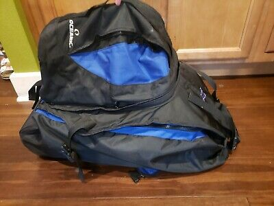 Oceanic Excursion Plus Roller Duffel Scuba Diving Gear Wheeled Snorkel Luggage